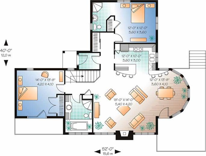 Modern vacation home plans home plan for Modern vacation house plans