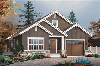 3-Bedroom, 1700 Sq Ft Bungalow House Plan - 126-1392 - Front Exterior