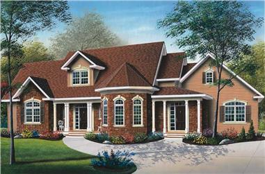 3-Bedroom, 2259 Sq Ft Victorian House Plan - 126-1398 - Front Exterior