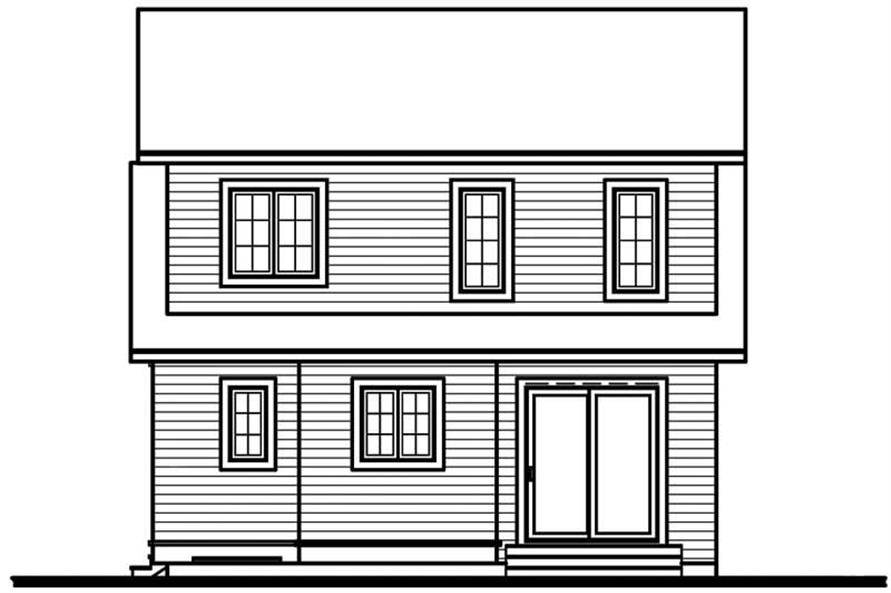 Home Plan Rear Elevation of this 2-Bedroom,1236 Sq Ft Plan -126-1401