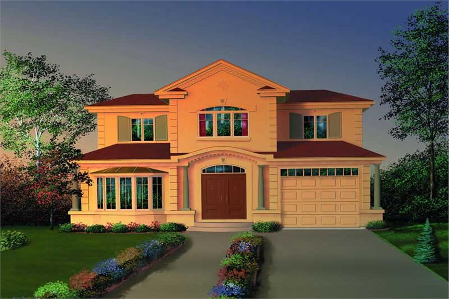 4-Bedroom, 2119 Sq Ft Coastal House Plan - 126-1402 - Front Exterior