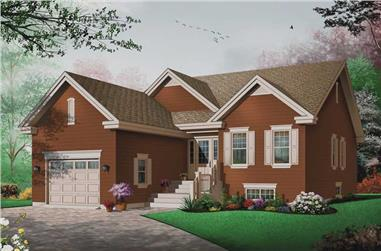 3-Bedroom, 1393 Sq Ft Bungalow House Plan - 126-1404 - Front Exterior