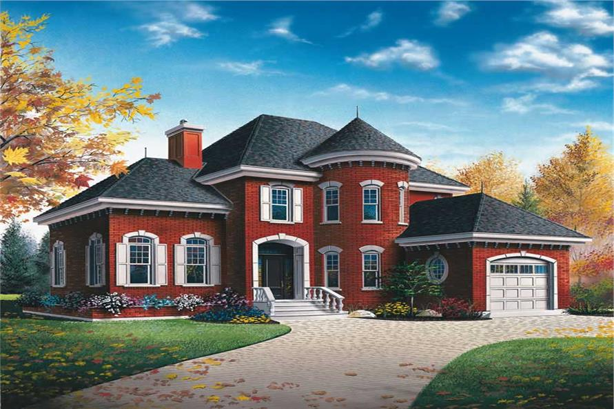 3-Bedroom, 1972 Sq Ft European Home Plan - 126-1411 - Main Exterior