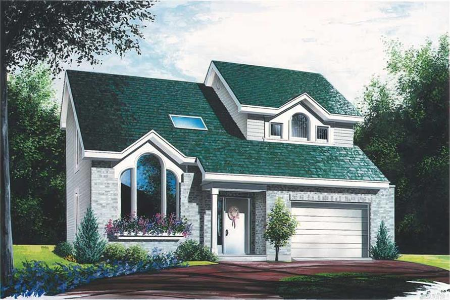 3-Bedroom, 1486 Sq Ft Contemporary House Plan - 126-1413 - Front Exterior