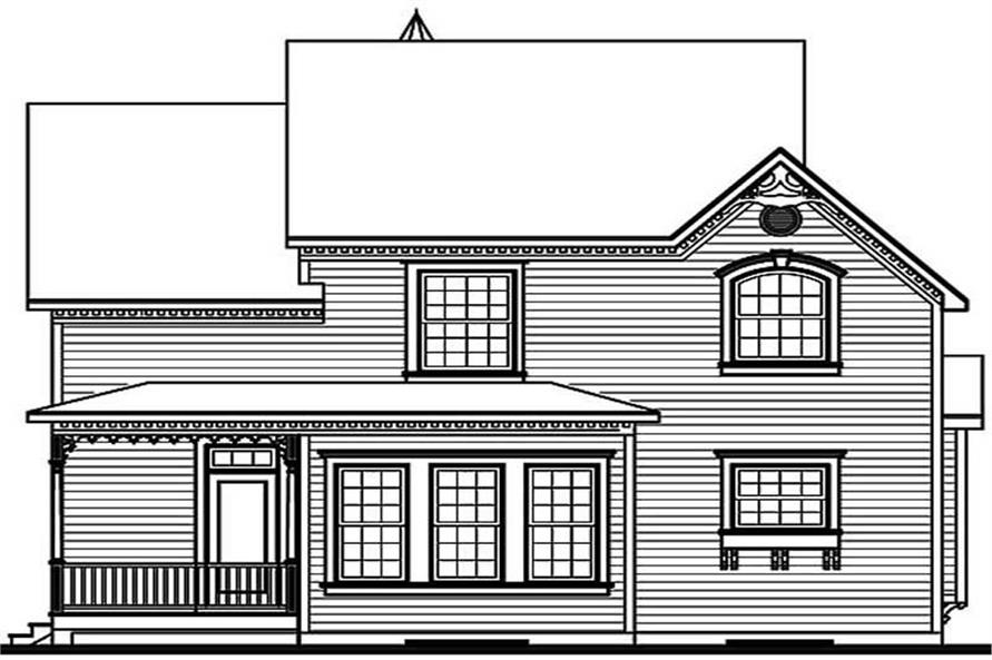 Home Plan Rear Elevation of this 3-Bedroom,2160 Sq Ft Plan -126-1414