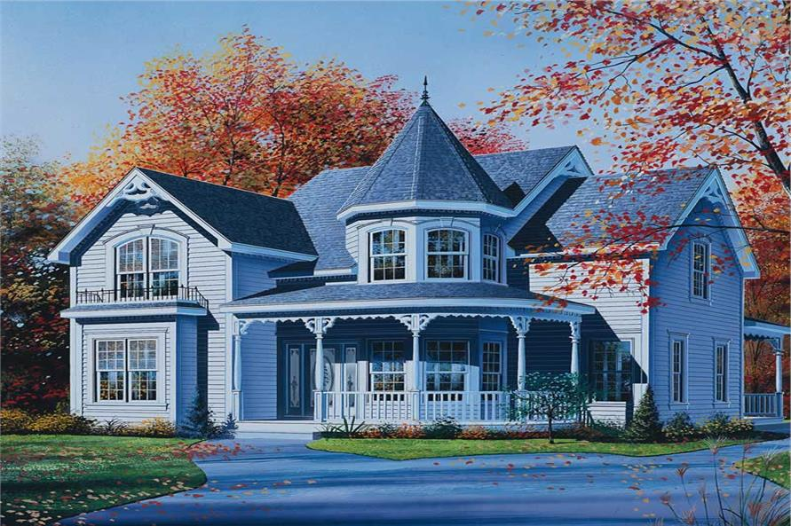 3-Bedroom, 2160 Sq Ft Victorian House Plan - 126-1414 - Front Exterior