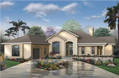 3-Bedroom, 2620 Sq Ft Contemporary Home Plan - 126-1418 - Main Exterior