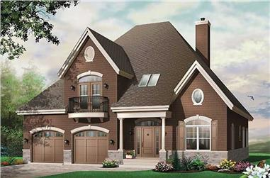 4-Bedroom, 3126 Sq Ft Country House Plan - 126-1419 - Front Exterior