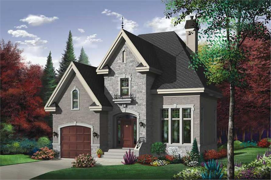 Home Plan Front Elevation of this 3-Bedroom,1727 Sq Ft Plan -126-1421