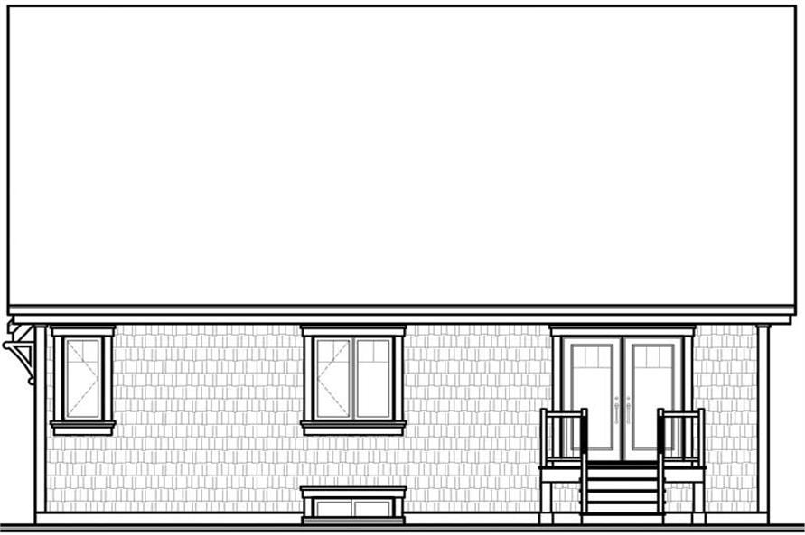Home Plan Rear Elevation of this 2-Bedroom,1299 Sq Ft Plan -126-1425