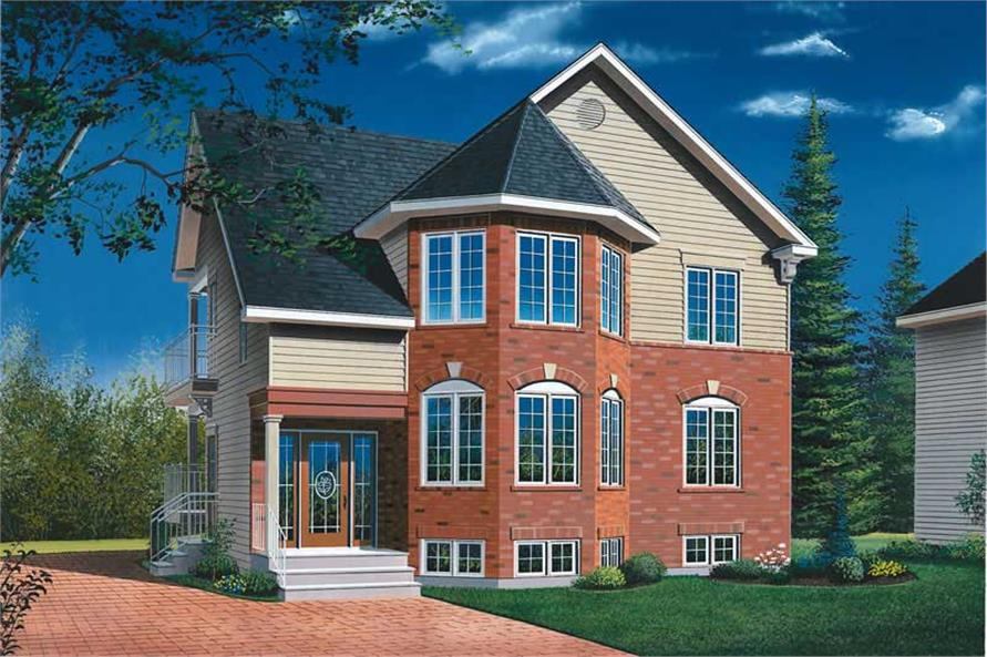 2-Bedroom, 2000 Sq Ft Multi-Unit House Plan - 126-1426 - Front Exterior