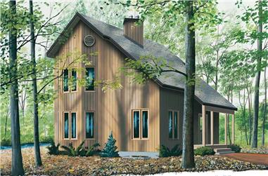 2-Bedroom, 1290 Sq Ft Country Home Plan - 126-1428 - Main Exterior