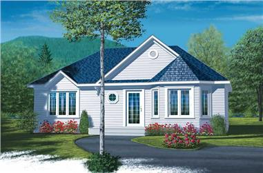 2-Bedroom, 958 Sq Ft Country House Plan - 126-1437 - Front Exterior