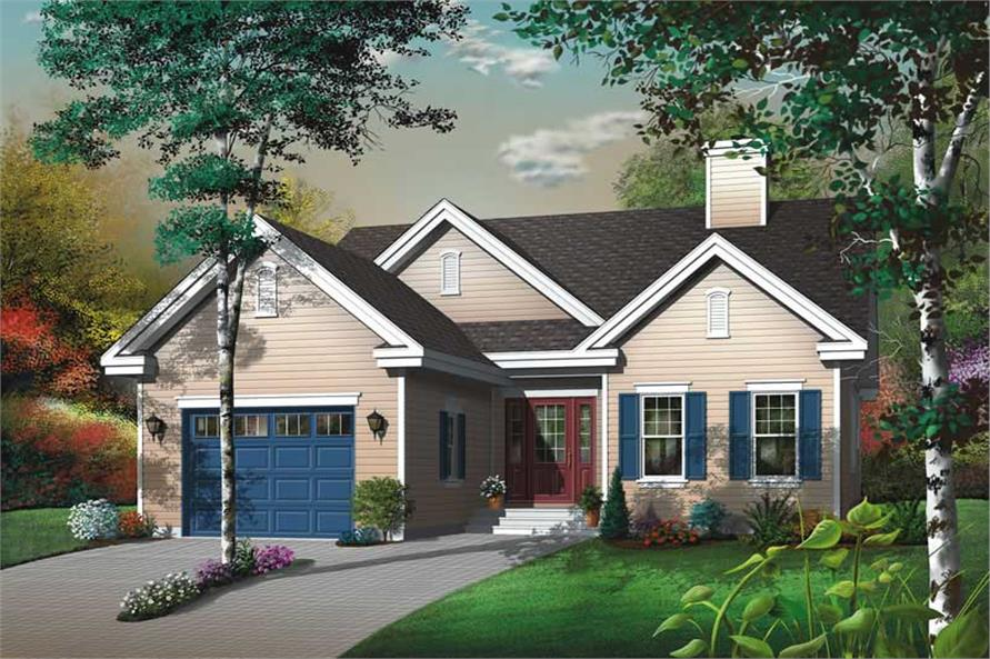 3-Bedroom, 1393 Sq Ft Bungalow House Plan - 126-1439 - Front Exterior