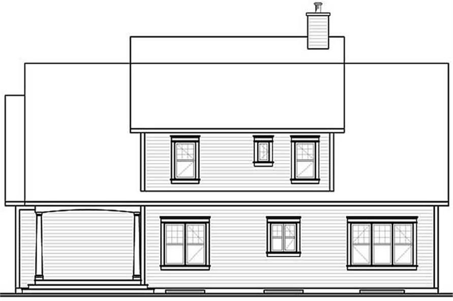 Home Plan Rear Elevation of this 3-Bedroom,2406 Sq Ft Plan -126-1441