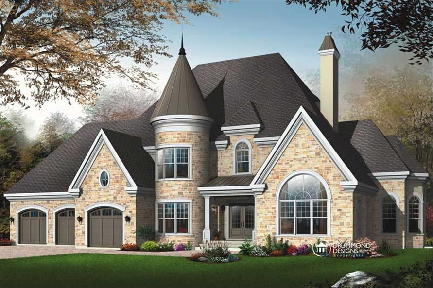 3-Bedroom, 3631 Sq Ft Contemporary House Plan - 126-1445 - Front Exterior