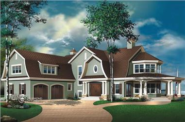 4-Bedroom, 4075 Sq Ft Traditional Home - Plan #126-1446 - Main Exterior