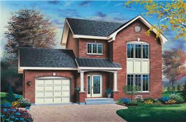 3-Bedroom, 1588 Sq Ft Small House Plans - 126-1448 - Main Exterior