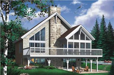 4-Bedroom, 1214 Sq Ft Coastal House Plan - 126-1449 - Front Exterior