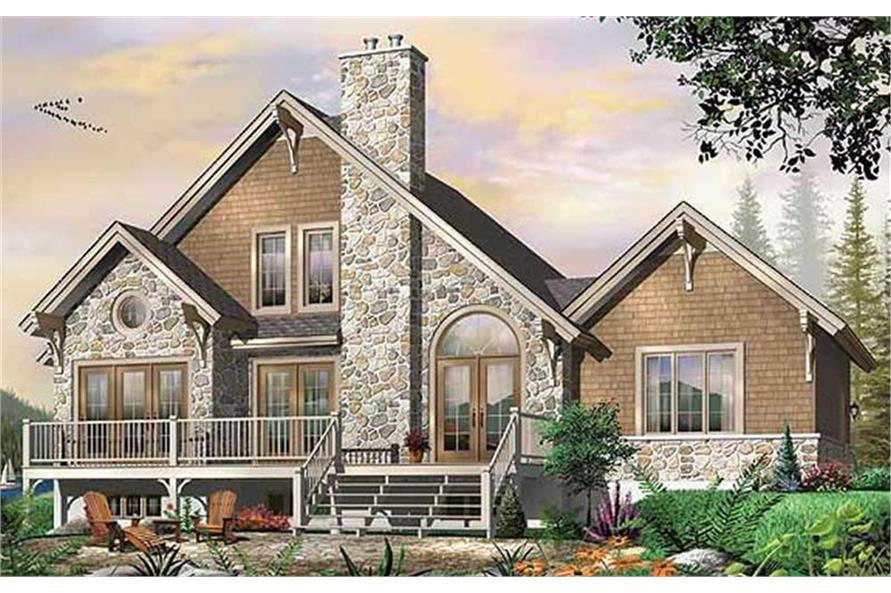 3-Bedroom, 1909 Sq Ft Contemporary House Plan - 126-1450 - Front Exterior