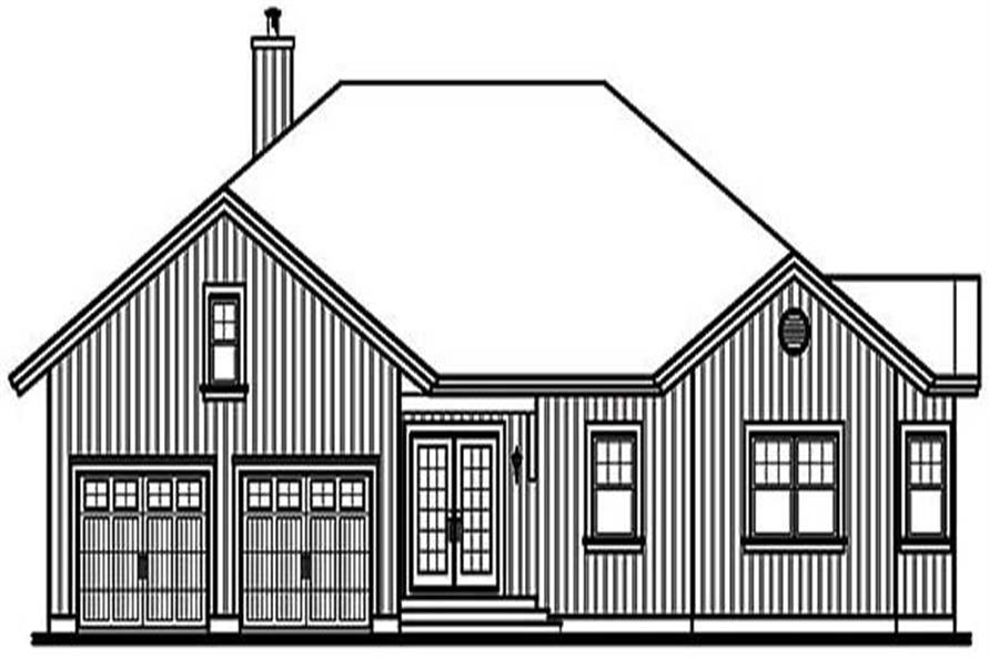 Home Plan Rear Elevation of this 5-Bedroom,3930 Sq Ft Plan -126-1451