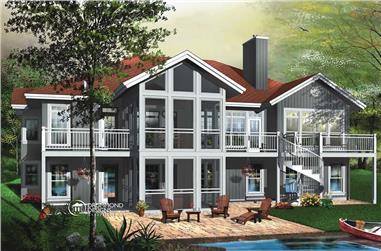 5-Bedroom, 3930 Sq Ft Coastal House Plan - 126-1451 - Front Exterior