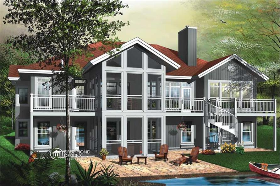 5-Bedroom, 3930 Sq Ft Coastal House Plan - 126-1451 - Front Exterior
