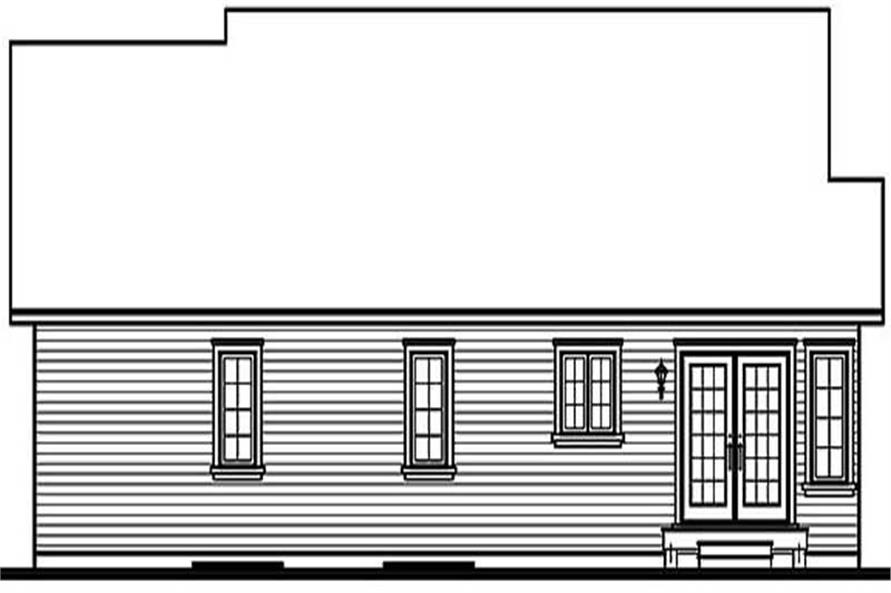 Home Plan Rear Elevation of this 3-Bedroom,1478 Sq Ft Plan -126-1453