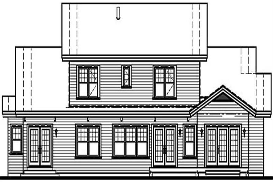 Home Plan Rear Elevation of this 4-Bedroom,3943 Sq Ft Plan -126-1455