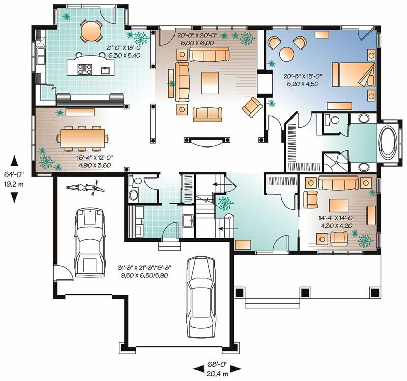 Contemporary country house plans home design dd 2663 8182 for 126 simcoe floor plan