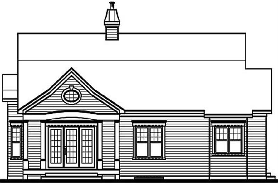 Home Plan Rear Elevation of this 3-Bedroom,2118 Sq Ft Plan -126-1456