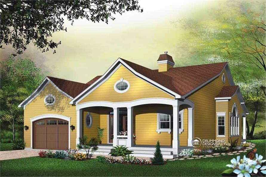 3-Bedroom, 2118 Sq Ft Contemporary Home Plan - 126-1456 - Main Exterior