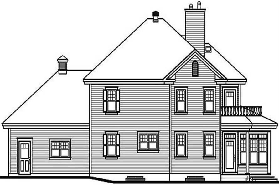 Home Plan Rear Elevation of this 3-Bedroom,2353 Sq Ft Plan -126-1457