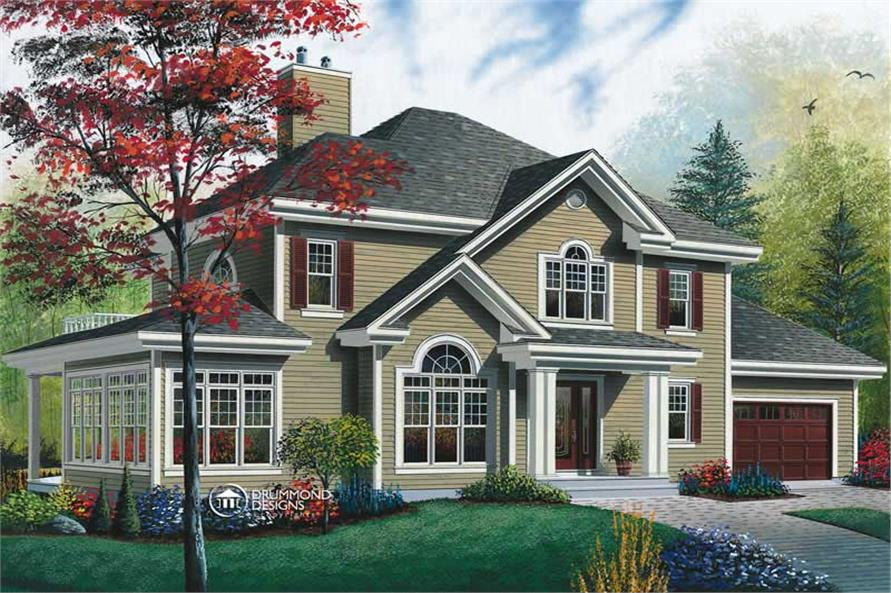 Main image for house plan # 8189