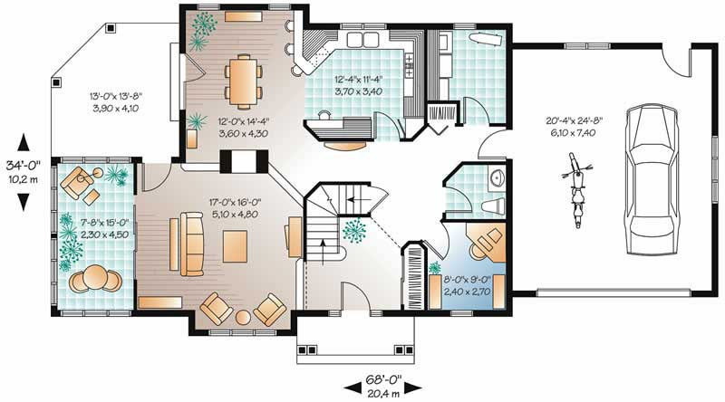 3 bedrm 2353 sq ft country house plan 126 1457 for 126 simcoe floor plan