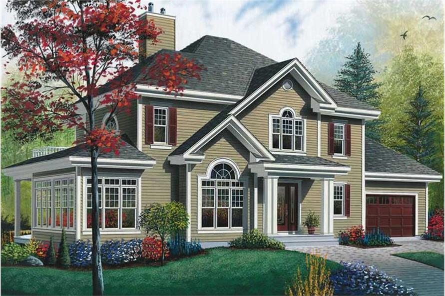 3-Bedroom, 2353 Sq Ft Country Home Plan - 126-1457 - Main Exterior