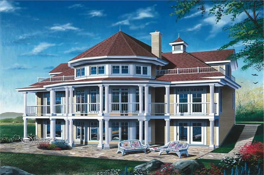 4-Bedroom, 2348 Sq Ft Coastal House Plan - 126-1460 - Front Exterior