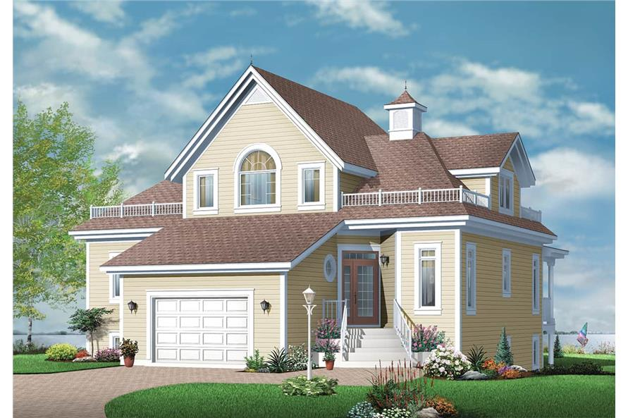 Front View of this 4-Bedroom,2348 Sq Ft Plan -2348