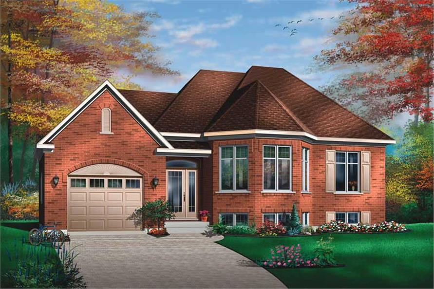2-Bedroom, 1007 Sq Ft Ranch Home Plan - 126-1462 - Main Exterior