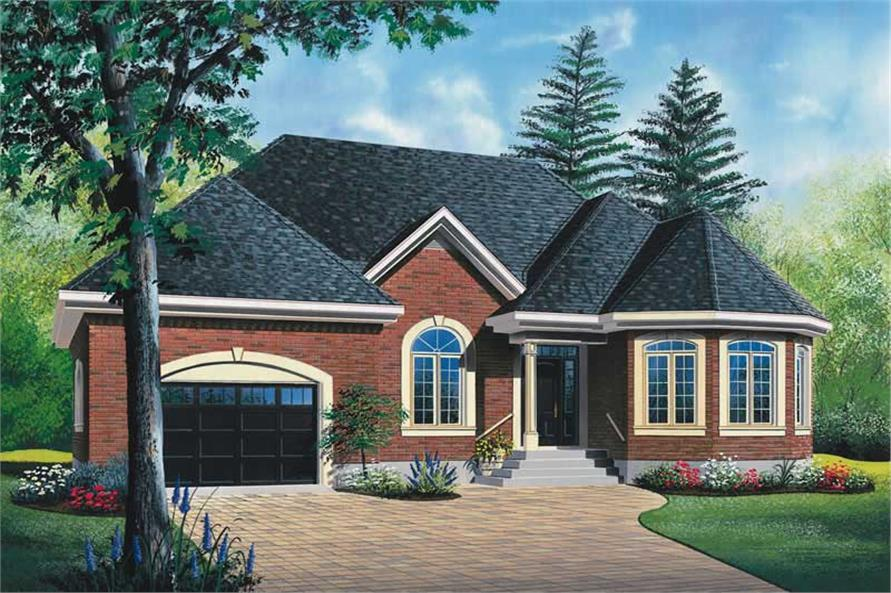 2-Bedroom, 1127 Sq Ft Ranch House Plan - 126-1464 - Front Exterior
