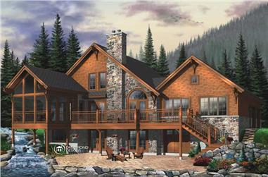5-Bedroom, 3506 Sq Ft Coastal House Plan - 126-1465 - Front Exterior