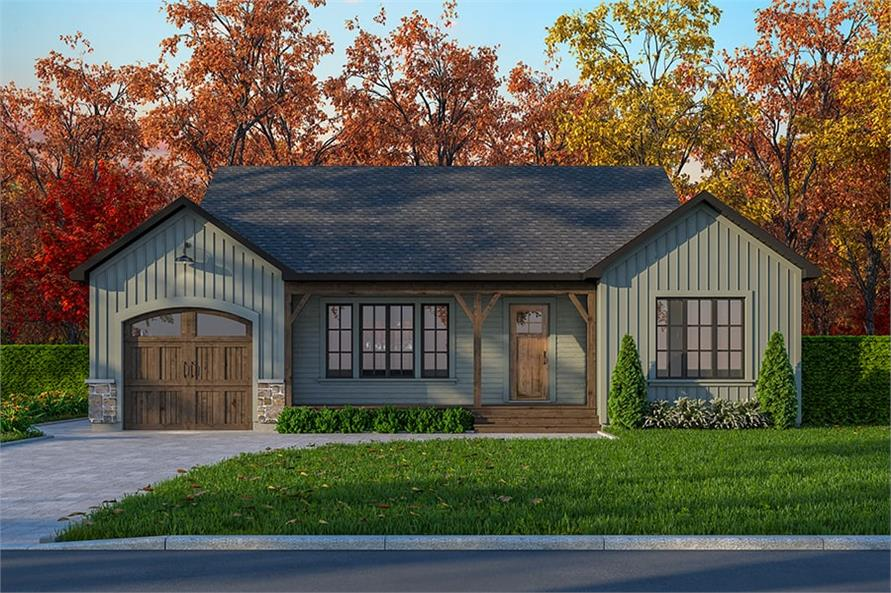 Front View of this 2-Bedroom,1018 Sq Ft Plan -126-1467