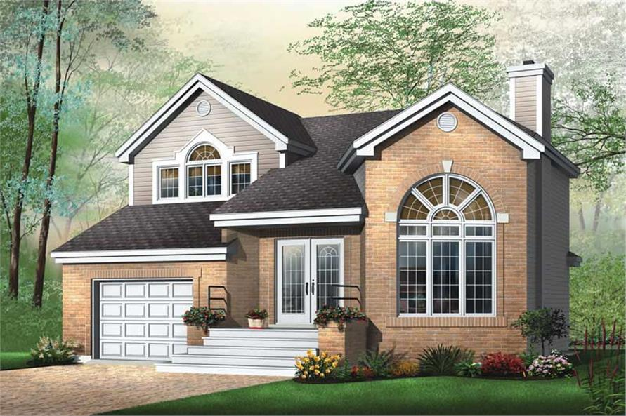 3-Bedroom, 1661 Sq Ft Country Home Plan - 126-1470 - Main Exterior