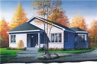 2-Bedroom, 998 Sq Ft Ranch House Plan - 126-1473 - Front Exterior