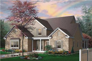 4-Bedroom, 3085 Sq Ft Country House - Plan #126-1474 - Front Exterior