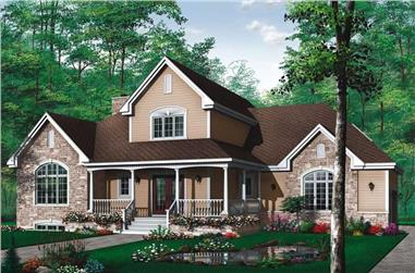 3-Bedroom, 2204 Sq Ft Contemporary House Plan - 126-1475 - Front Exterior