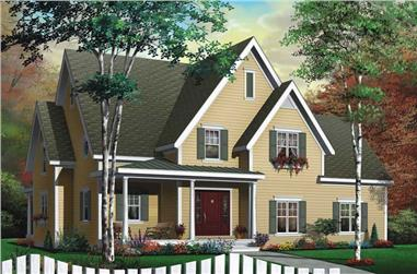 3-Bedroom, 2028 Sq Ft Country House Plan - 126-1476 - Front Exterior