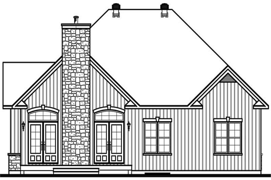 Home Plan Rear Elevation of this 3-Bedroom,2161 Sq Ft Plan -126-1478