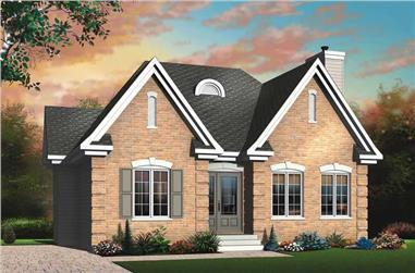 2-Bedroom, 1114 Sq Ft Bungalow Home Plan - 126-1479 - Main Exterior