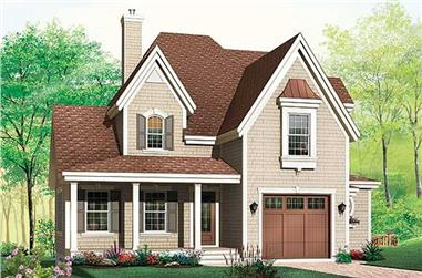 3-Bedroom, 1886 Sq Ft Country House Plan - 126-1482 - Front Exterior